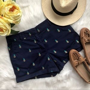 Cambridge navy blue pineapple shorts with …